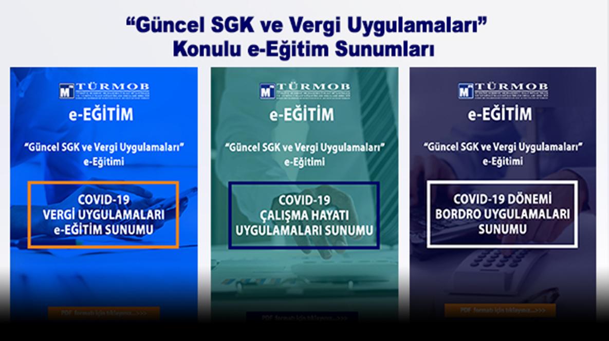 """Güncel SGK  Ve Vergi Uygulamaları  """" Konulu E-EĞİTİM Sunumları"""