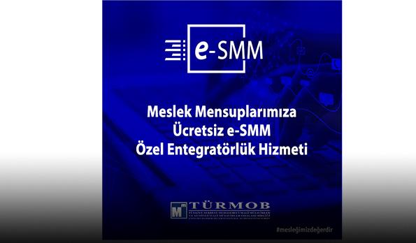 E-SMMM ÖZEL ENTEGRATÖRLÜK HİZMETİ