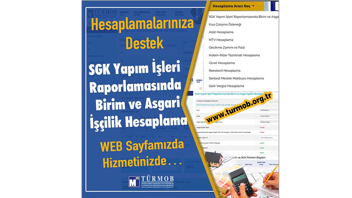 SGK Yapım İşleri Raporlamasında Birim Ve Asgari İşçilik Hesaplama