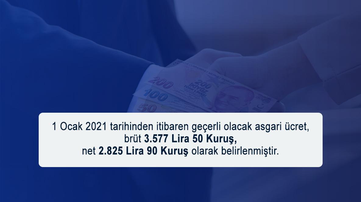2021 Asgari Ücret Tutarları Açıklandı…
