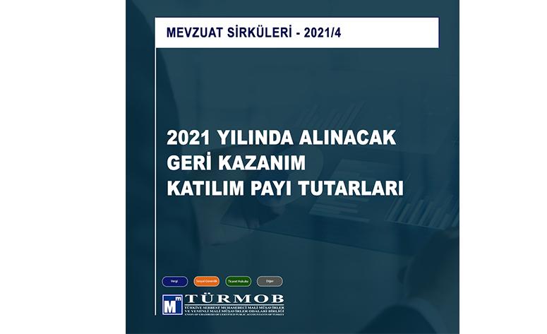 2021 Yılında Alınacak Geri Kazanım Katılım Payı Tutarları