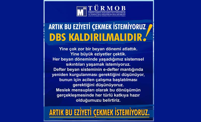 ARTIK BU EZİYETİ ÇEKMEK İSTEMİYORUZ… DBS KALDIRILMALIDIR…!!!